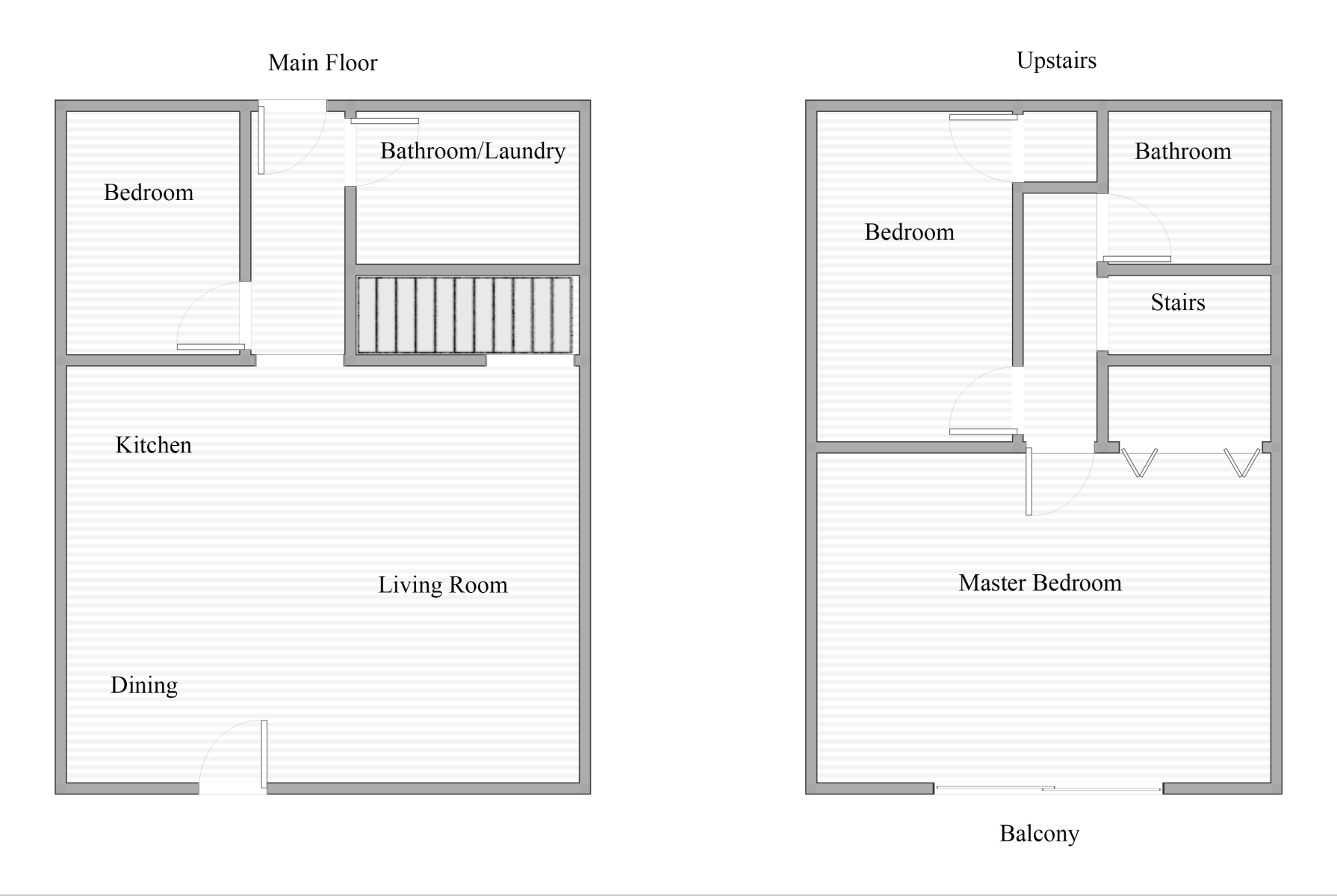 Floor Plan for Pinehaven Retreat -Charming log cabin with beautiful views of the area! Enjoy the fresh mountain air while you BBQ on the deck. Easy access to the lifts, shopping, and restaurants.